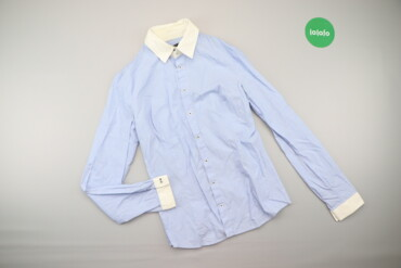 Рубашки и блузы - Цвет: Голубой - Киев: Жіноча приталена сорочка Sisley    Довжина: 70 см Ширина плечей: 39 см