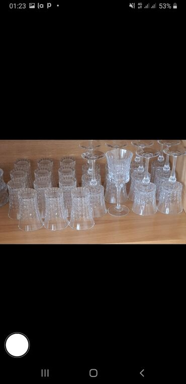 luminarc наборы посуды в Азербайджан: Luminarc bakallari satilir. Qiymeti 80 azn.Dest 12 eded ayaqli bakal