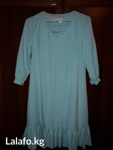 Платье нежно голубого цвета, размер в Лебединовка