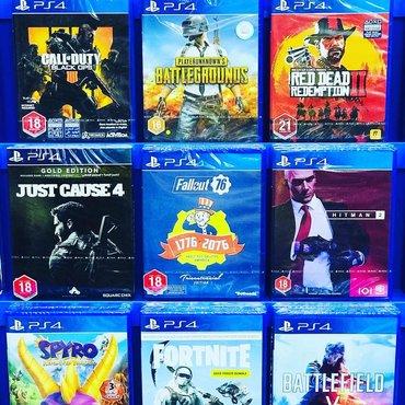 Sony PlayStation 4 oyunlarının və aksesuarlarinin zəmanətlə satışı