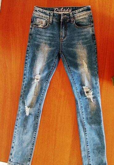 Детский мир - Тамчы: Стильные, джинсы, в отличном состоянии.на девочку 12-14лет в зависимос