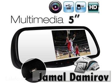 Bakı şəhərində Güzgü- monitor usb, sd-card, bluetooth, arxa görüntü, audio,