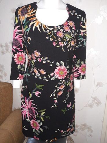 Divna cvetna haljina,duz.90 cm,obucena par puta - Smederevo