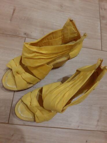 Ženska obuća | Stara Pazova: Zute platforme 37 broj