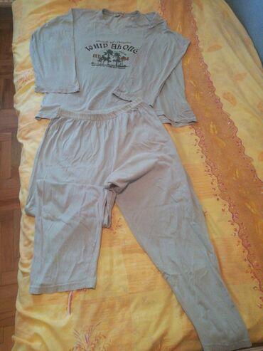 Muška odeća | Bajina Basta: Pizama muska / zenska 3xlPamucna, kao nova, za krupnije osobe, siva