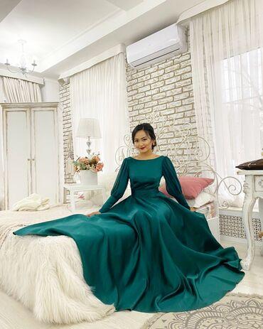 платье в пол с разрезом в Кыргызстан: Сдаю вечернее платье на прокат !!! Размер 42-44 Цвет: бутылка