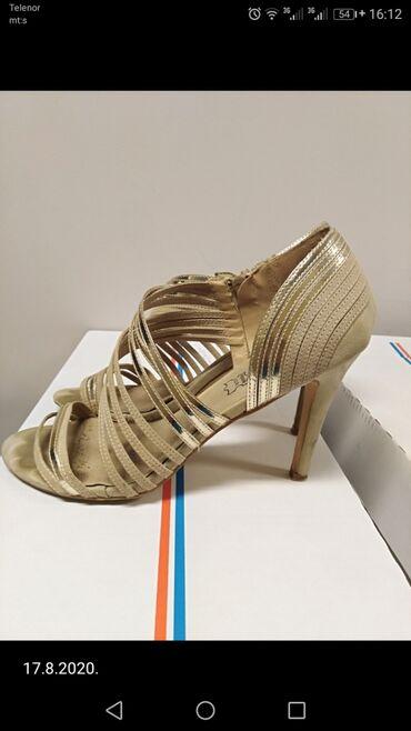 Sandale, vel 40, kombinacija krem i zlatne boje, prelepe
