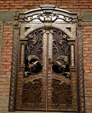 Красивые кованые бронированные двери  в Бишкек