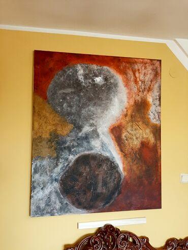 Slika na platnu - akril, ulje, pesak iz Sahare. Dimenzije 1000cm ×1200