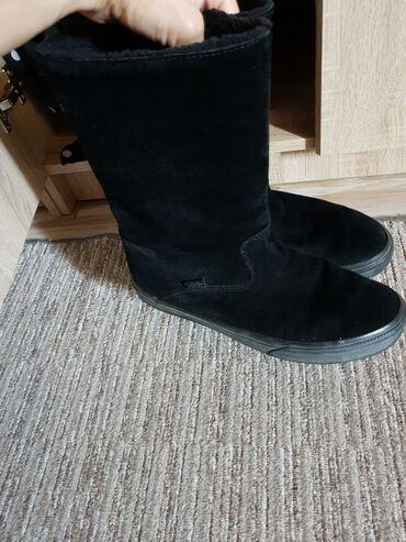 Zenske cizme - Srbija: Vans zenske cizme, KOZA, oblozene krznomKupljene u Office