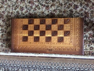 Ручная работа нарды плюс шахматы в комплекте. фигуры для нард. в Бишкек