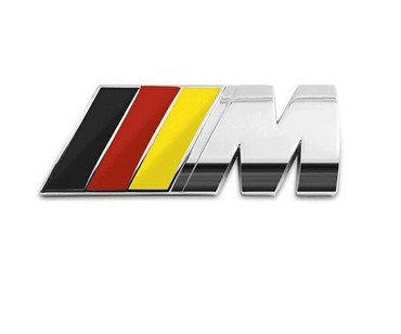 Tuning i styling oprema - Srbija: M BMW ZNAK metalni 83mm x 33mmZnak M BMWDimenzije 83mm x 33mmZnak je