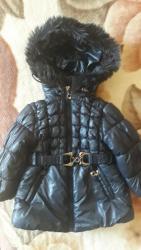 Topla zimska jaknica teget boje za 18 meseci - Nis