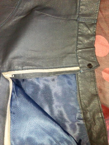 Haljina-s-i-obim-struka-cm - Srbija: Kozna suknja,nova,sive miš boje,duzine 68 cm,obim struka 70 cm