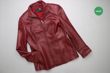 Жіноча шкіряна куртка YiLuQi, p. XXL    Довжина: 69 см Ширина плечей