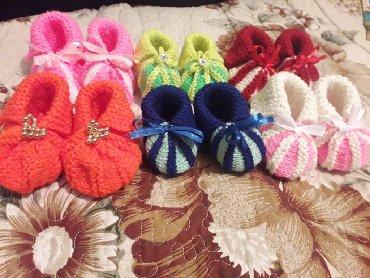 шапочки и пинетки зефирки в Кыргызстан: Очень красивые пинетки ручной вязки Можно в подарок цена всего 150 сом