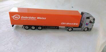 Avtomobil modelləri | Srbija: Kamion Welly Mercedes Actros sa prikolicom Geb.Weiss 1:87.ocuvan