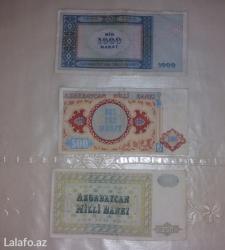 kohne tikili - Azərbaycan: Kohne pullar satiram 1000 manat 500 manat 250 manatliq eskinaslar