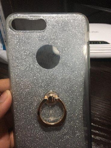 чехол-с-мишкой в Кыргызстан: Продаю чехол на iPhone 7 Plus с кольцом прозрачный
