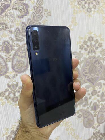 2594 elan: Samsung Galaxy A7 2018   64 GB   Göy   Barmaq izi, İki sim kartlı, Face ID