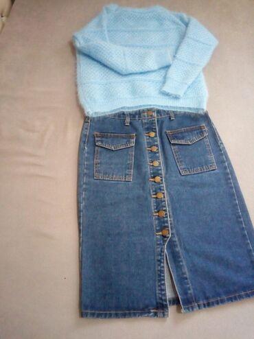 Продам вещи. Юбка джинсовая 27(М) размер, состояние отличное, 300с