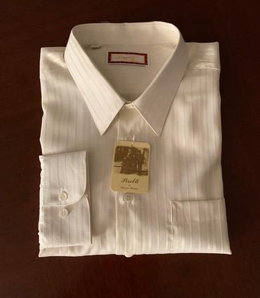бренды мужской одежды в Кыргызстан: Одежда рубашка мужская с длинным рукавом, новая, размер L-наш 50