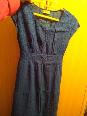 женское платье размер м в Кыргызстан: Женская летняя платья хб, размер м, подходит для беременным,сост.отл