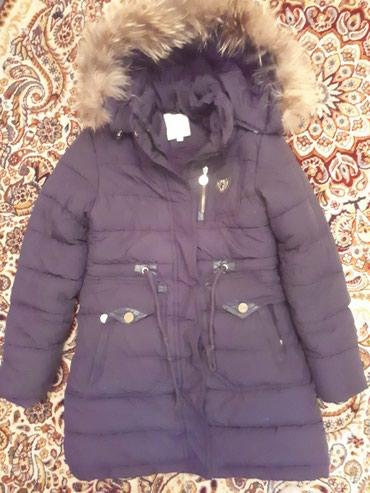 Пуховик зимний, теплый на девочку на 6-7-8 лет в Бишкек