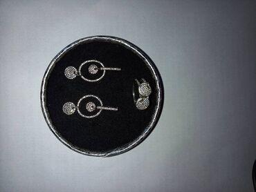 серебряные обручальные кольца бишкек in Кыргызстан   ГРУЗОВЫЕ ПЕРЕВОЗКИ: Серебряный набор 925 пробы ( серьги и кольцо )
