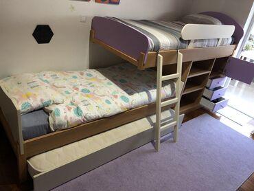 Έπιπλα - Ελλαδα: Κουκέτα Modeco που περιλαμβάνει:-ημίψηλο κρεβάτι διαστάσεων 202x98x107