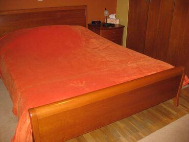 Έπιπλα - Ελλαδα: ΚΡΕΒΑΤΙ διπλό ξύλινο (χωρίς το στρώμα), από ξύλο κερασιάς, διαστάσεων