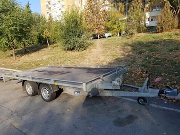 Auto prikolice - Srbija: Prikolica za prevoz automobila rentiranje  4×2 m ukupne nosivost