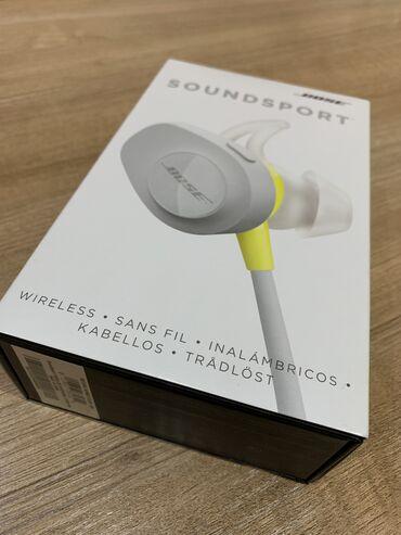 лайтнинг наушники в Кыргызстан: Продаю беспроводные наушники  BOSE soundsport wireless  В комплекте: Н