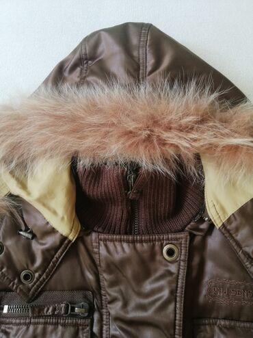Farmerice kratko - Srbija: Kvalitetna Phard zimska ženska jakna, očuvana, kratko nošena, veličina