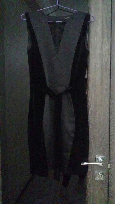 Продаю красивое коктейльное платье велюр+атлас, Турция, размер М, в Бишкек