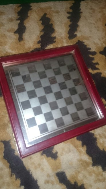 Шахматы стеклянные(матовые,прозрачные) доска сьемная зеркальная в Бишкек