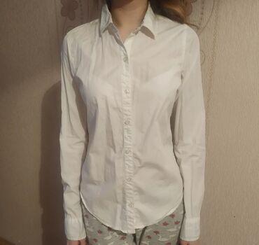 Белая блузка х/б, размер ХS, можно и в школу, находимся в 8 микр