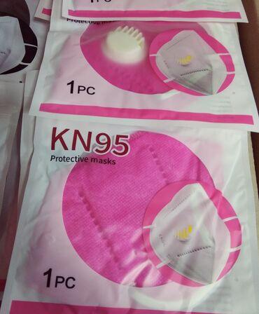 Розовые маски респираторы | оптомС фиксаторомЦена - 50сомДоставка -