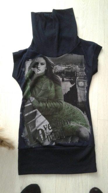 Majica samo oprana ,teget zelena kombinacija,samo oprana m vel. - Nova Varos