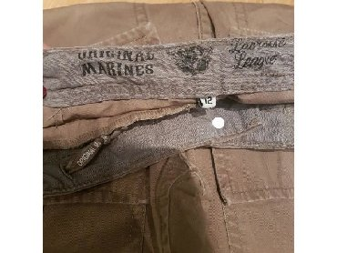 Farmeke-broj - Srbija: Original marines farmerke pantalone za decake. 12 godina, braon boje