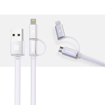 Кабель remax 2 in 1 cable aurora cable usb в Бишкек