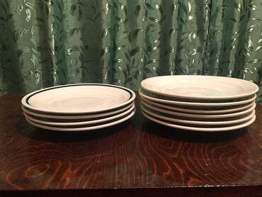 Новые тарелки, плоские, СССР, диаметр 12,5. 10 штук