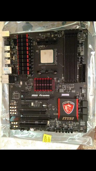 Bakı şəhərində MSI 970 gaming materinka + 12 gb RAM (3 eded 4gb, 1333 mhz ram