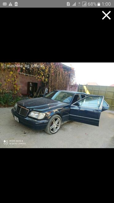 диски на авто 17 в Кыргызстан: Mercedes-Benz S 320 3 л. 1995   1 км