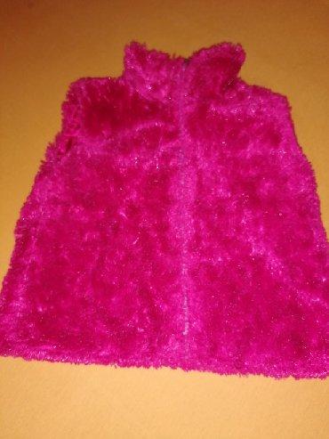 Ostala dečija odeća | Velika Plana: Cupavi prsluk presladak, jako roze boje i presijava, predivan stvarno