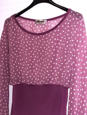 Roze bluza sa belim tufnama, u M veličini. Kao nova, bez oštećenja. - Kragujevac