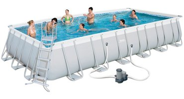 Навес для бассейна - Кыргызстан: Бествей Бассейн каркасный прямоугольный Bestway арт. 56474, купить в