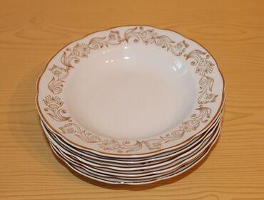 Набор десертных глубоких тарелок советского производства (Коростеньски