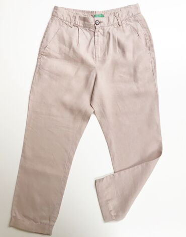 Lanene pantalone - Srbija: Benetton duboke lanene pantalone, s/36