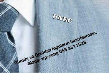 Gümüş və Qızıldan logoların hazırlanması. Əlaqə: wp-zəng